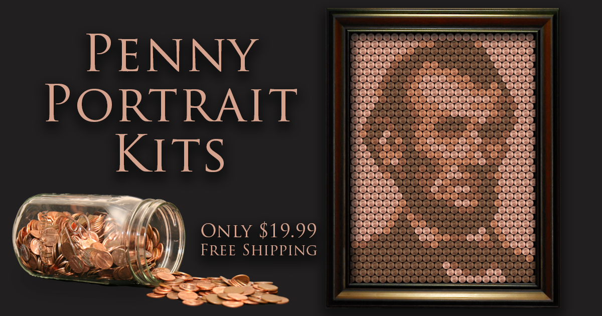 Penny portrait create a portrait of abe lincoln from for Create your own penny